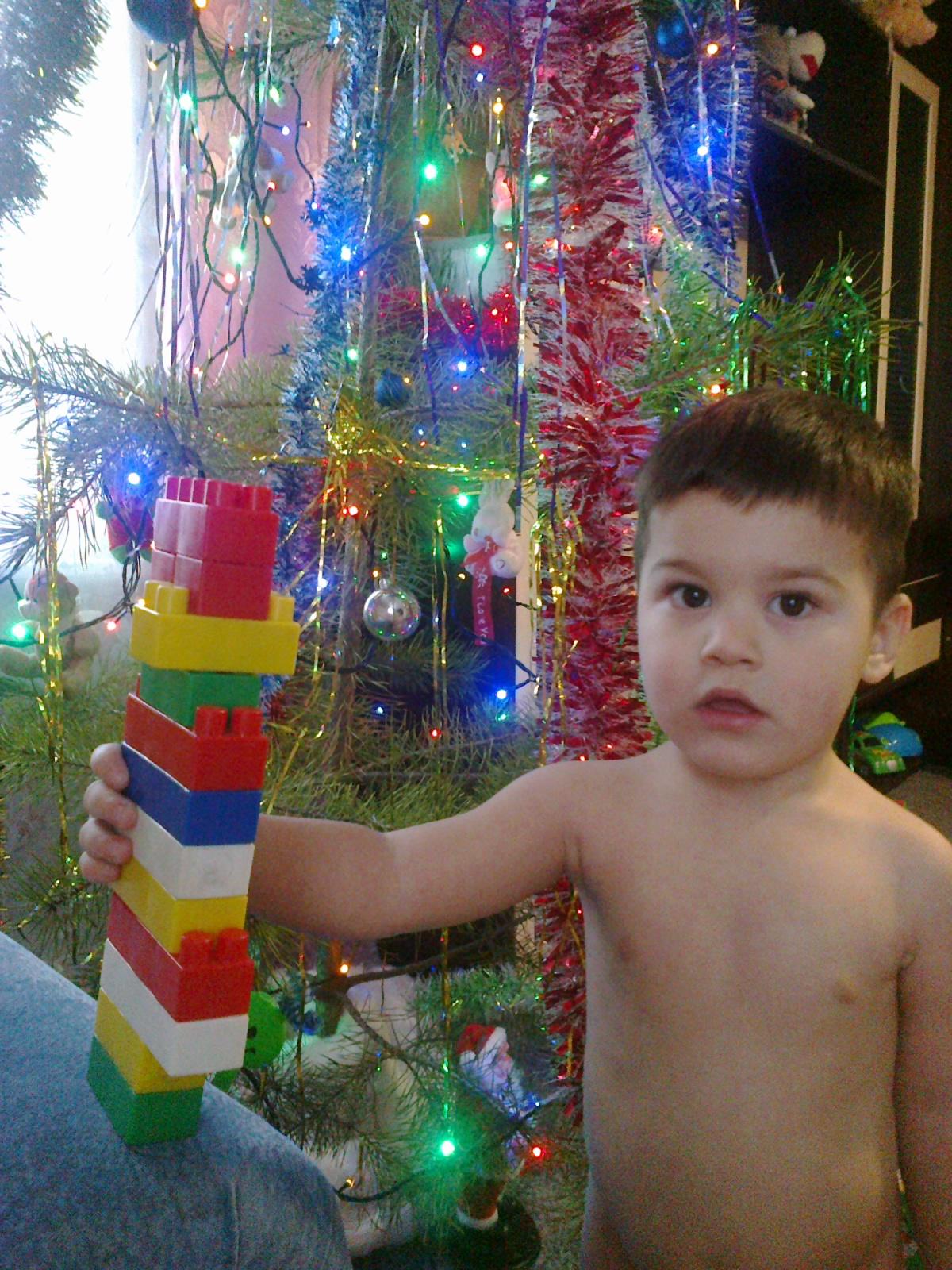ЕЛОЧКА СЫНОК И LEGO!!!!!. Наряди елку с LEGO