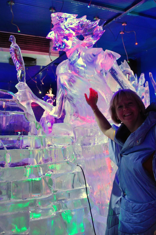 Ледяные скульптуры. В гостях у снеговиков