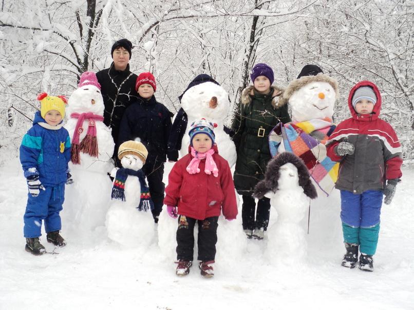 целая семья!. Закрытое голосование фотоконкурса 'В гостях у снеговиков'