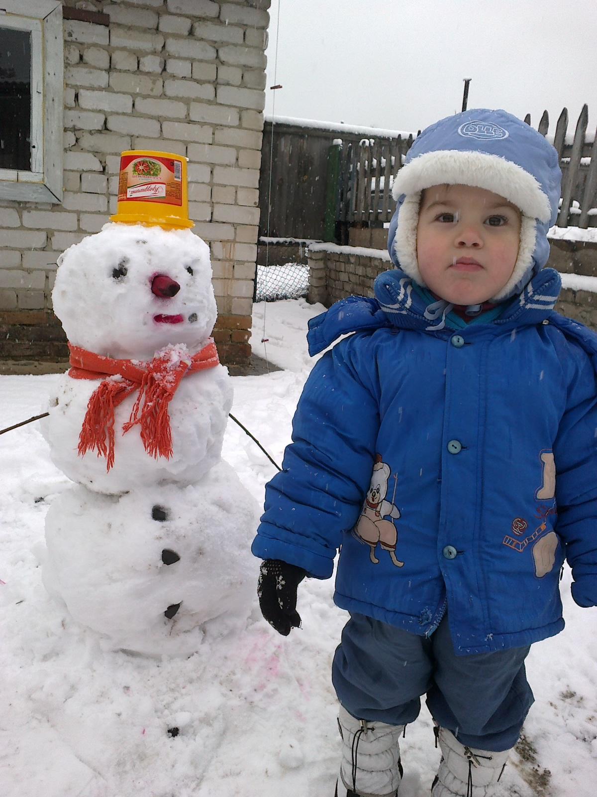МОЙ СЫНОК РЕНАТИК!!. В гостях у снеговиков