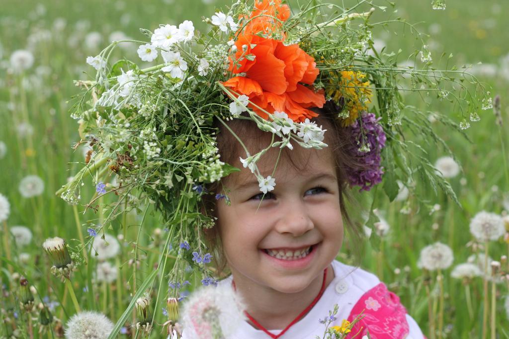 Надела платье яркое из луговых цветов.. Цветочное настроение