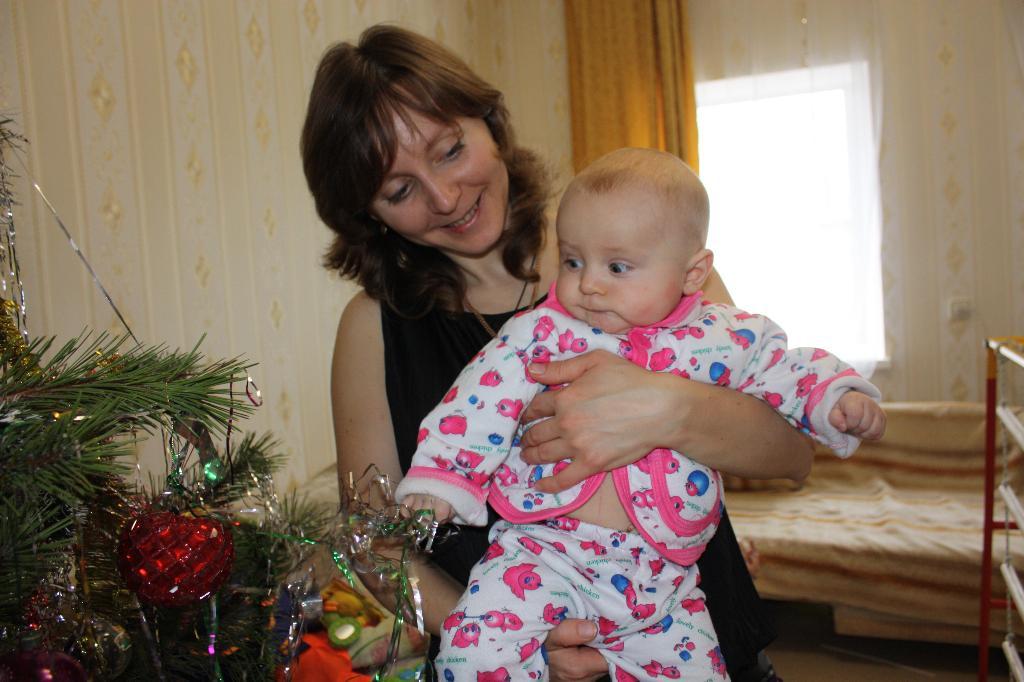 Первый Новый год, первая елка, первая игрушка...... Хочу на ручки!
