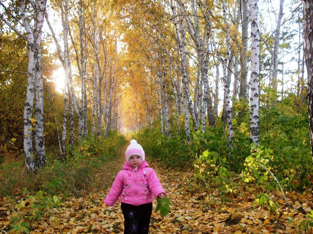 Прогулка в осеннем лесу. Самый сильный и здоровый!