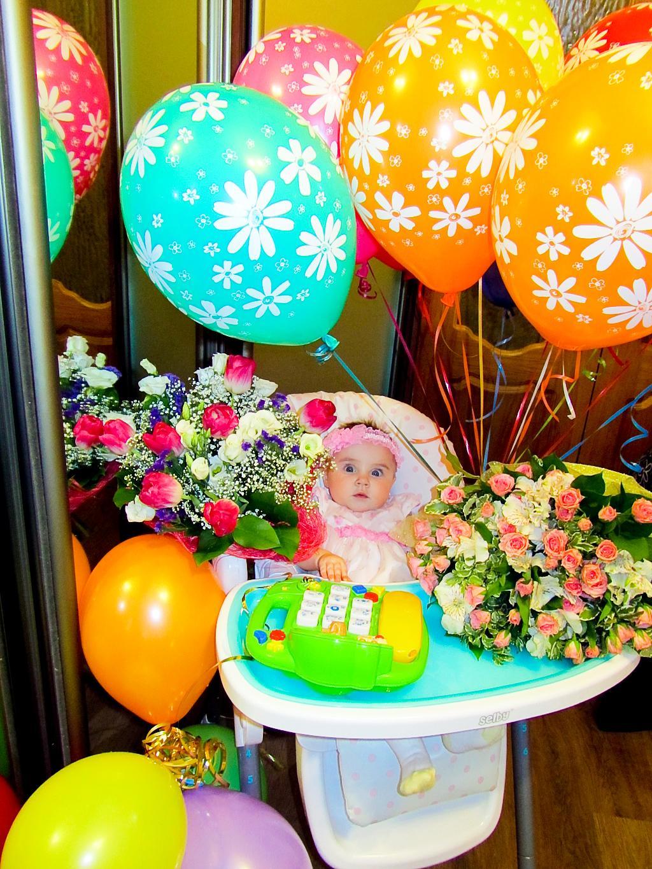 Отмечали дочкины полгода!!!. Цветочное настроение