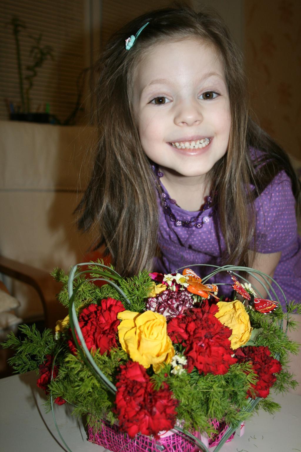Любимой маме, в день ее рождения 8 марта!!!. Цветочное настроение
