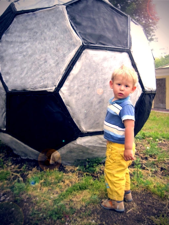 Вот такой у меня мячик!!!. Мой спортивный уголок