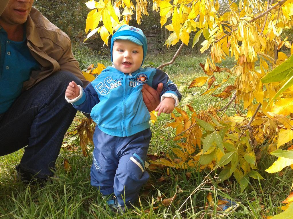 Осень золотая-весёлая прогулка. Самый сильный и здоровый!