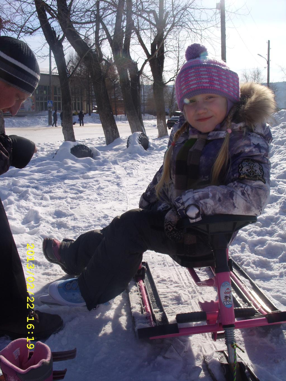 Будем кататься и на коньках, и санках!!)). Пора кататься!