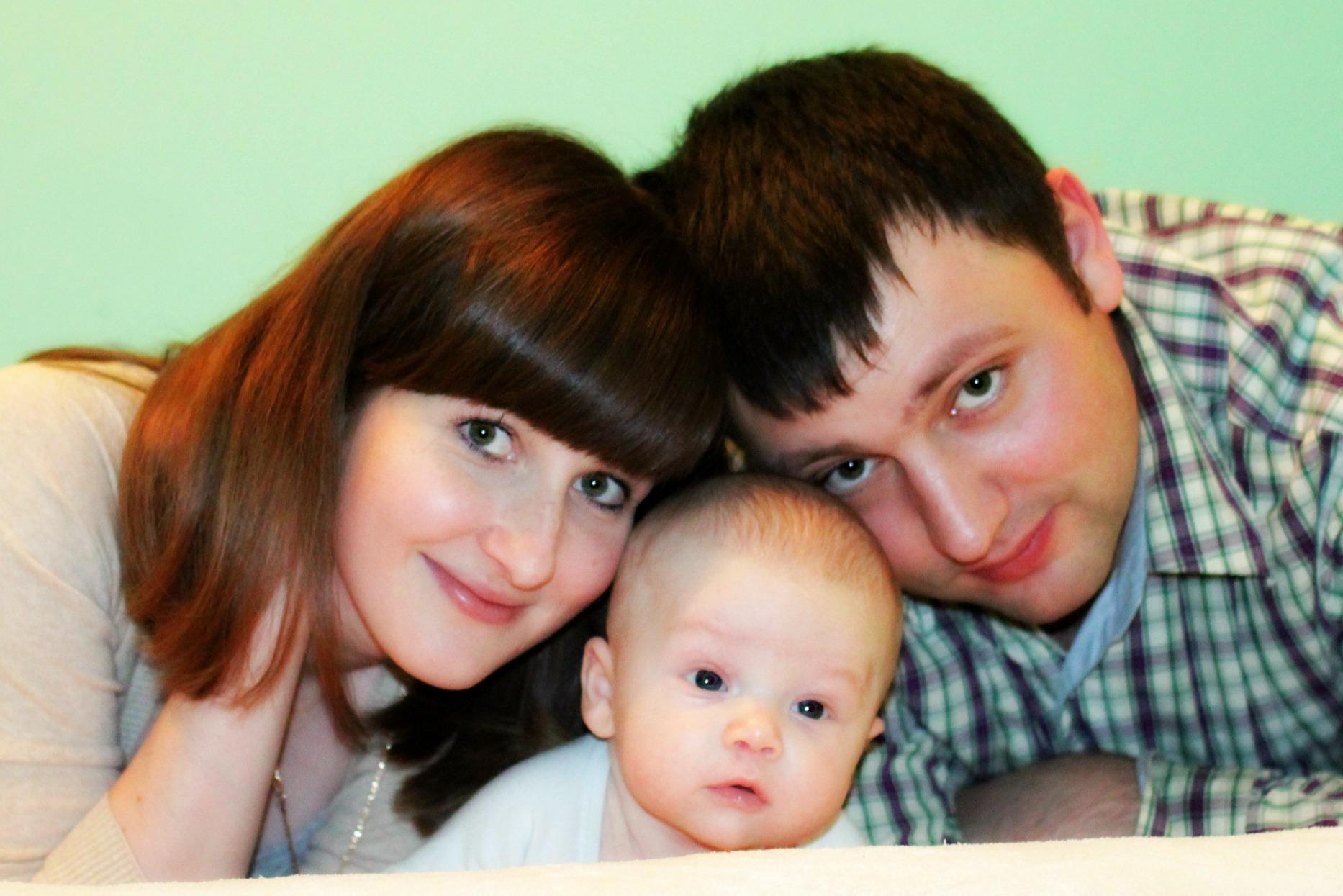 Наше счастье!. Мама, папа, я - счастливая семья!