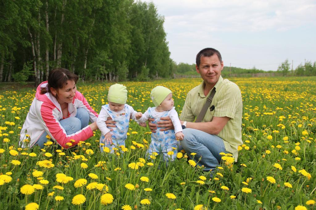 Семейная идиллия в цветах.... Мама, папа, я - счастливая семья!