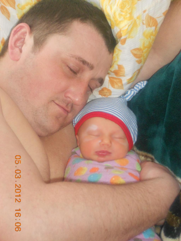 первый сон с папой. Мама, папа, я - счастливая семья!