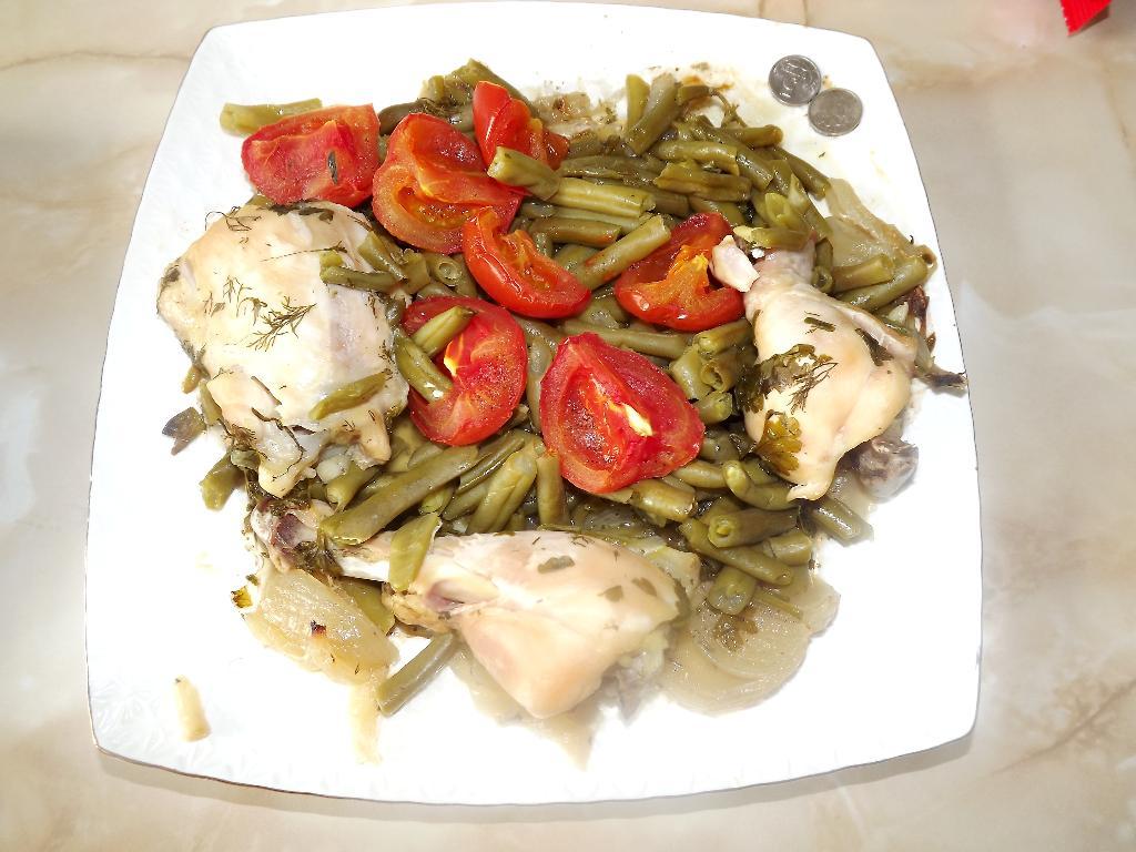 'Курочка с овощами на луковом одеяле'. Творческая мама