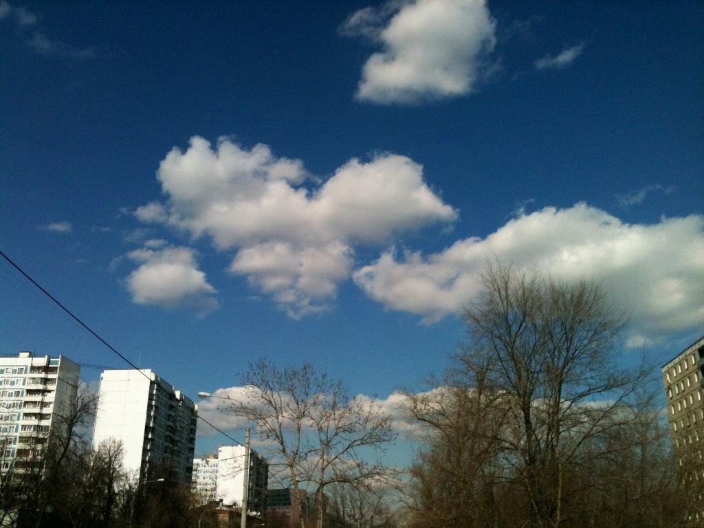 Небо любимого города. Блиц: синее и голубое