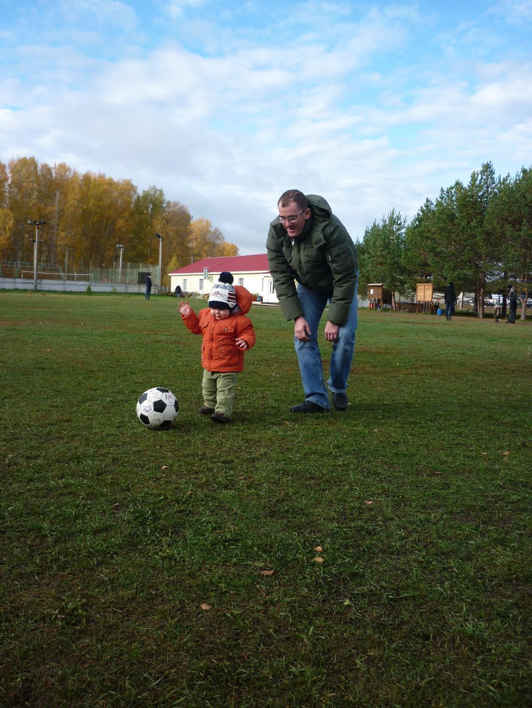 Мы с папой - футболисты!. Играем вместе!