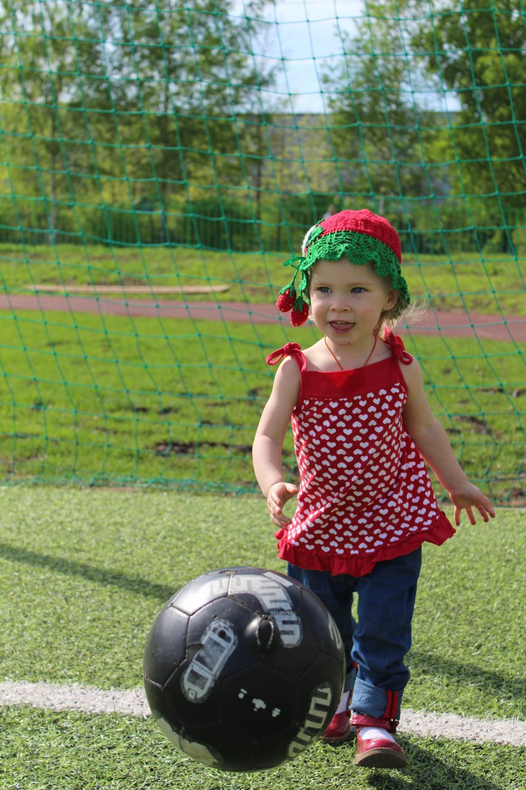 Люблю футбол!. Побегаем-попрыгаем