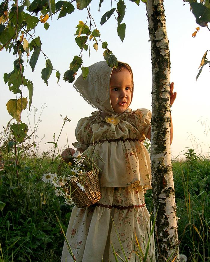 Во поле березка стояла.... Маленькая модница