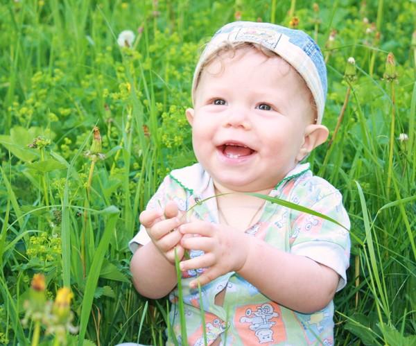 В траве сидел кузнечик и мило улыбался!. От улыбки хмурый день светлей!