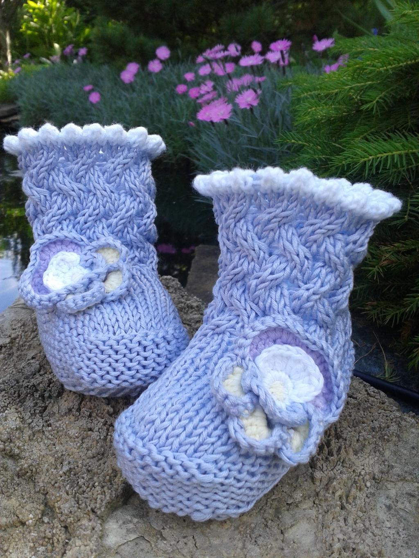 Голубые сапожки. Перчатки, варежки, носки, пинетки, обувь