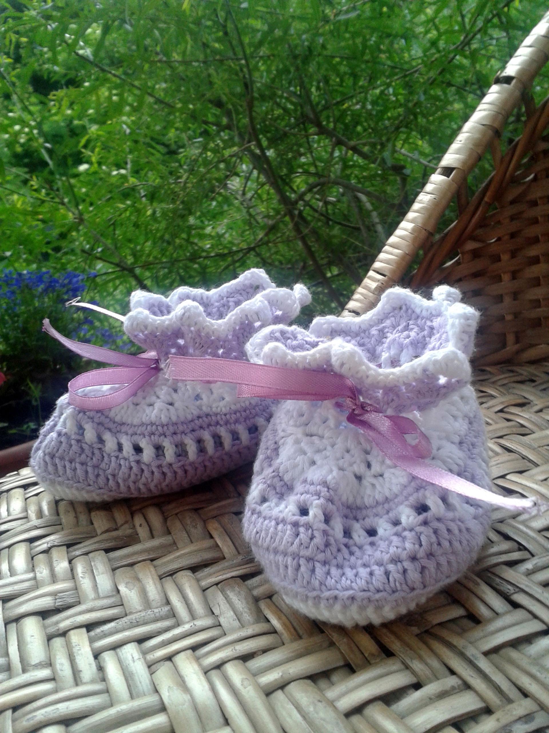 Кружевные пинетки. Перчатки, варежки, носки, пинетки, обувь