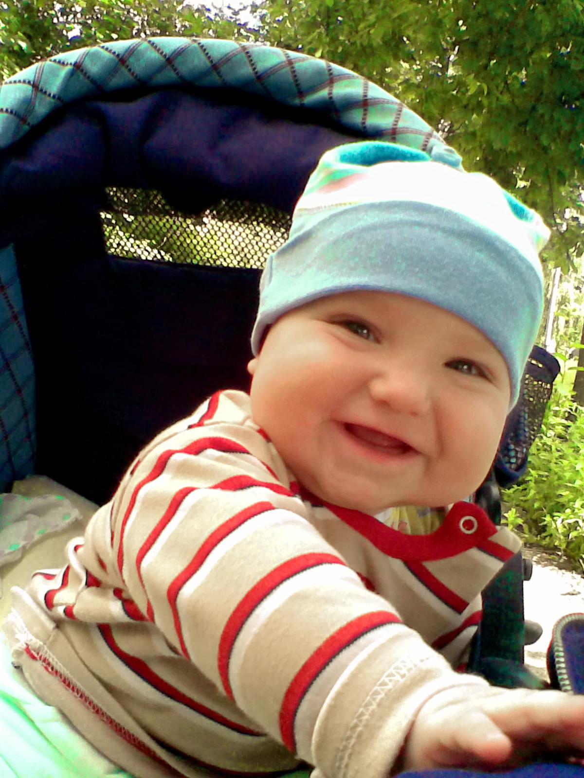 Солнышко моё проснулось и мамуле улыбнулось -))). От улыбки хмурый день светлей!
