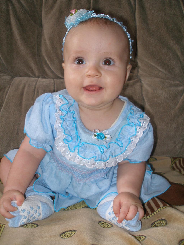 Моя маленькая Нютка-голубая НеЗабудка))). Маленькая модница