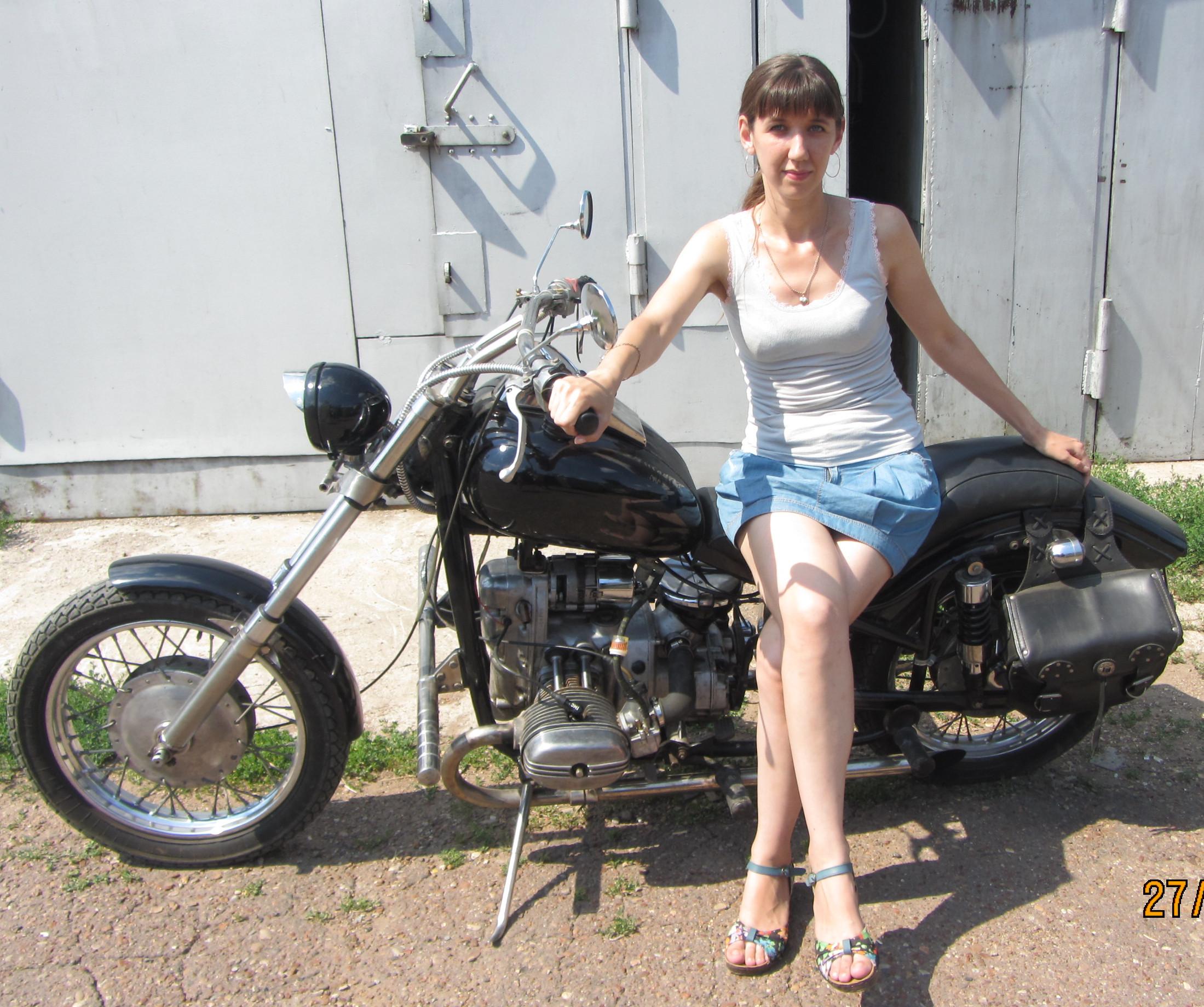 Мотоцикл- моя мечта!!. Летний образ
