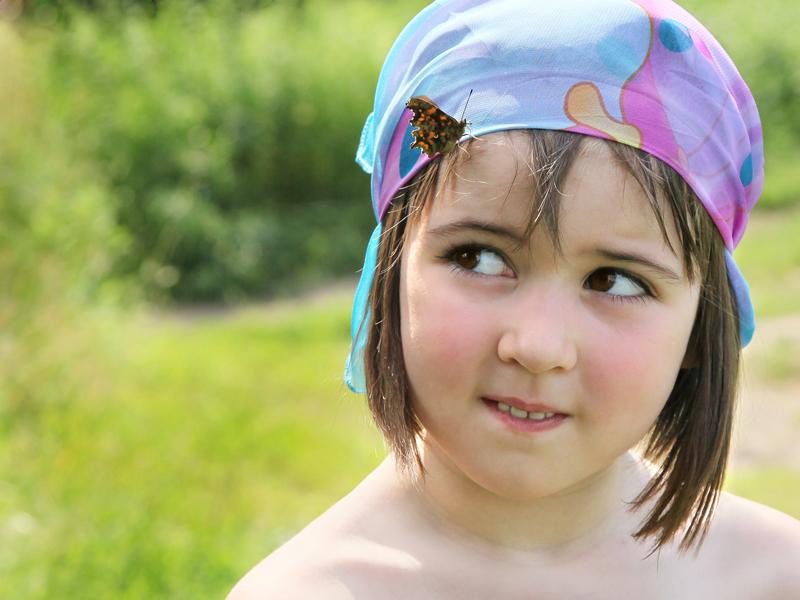 Девочка с бабочкой.. Летний образ