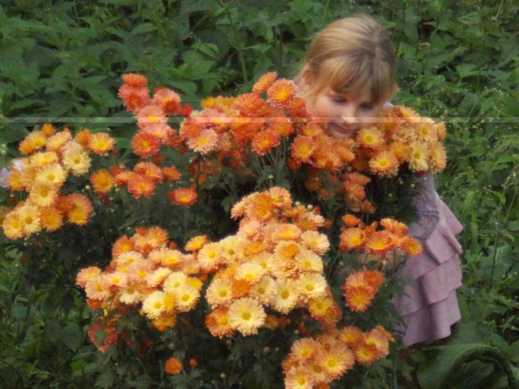 девочка и цветы. Летний образ