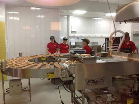 производственная линия Krispy Kreme