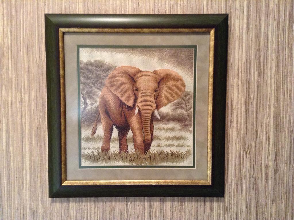 Слоны в интерьере. Великан. Животные