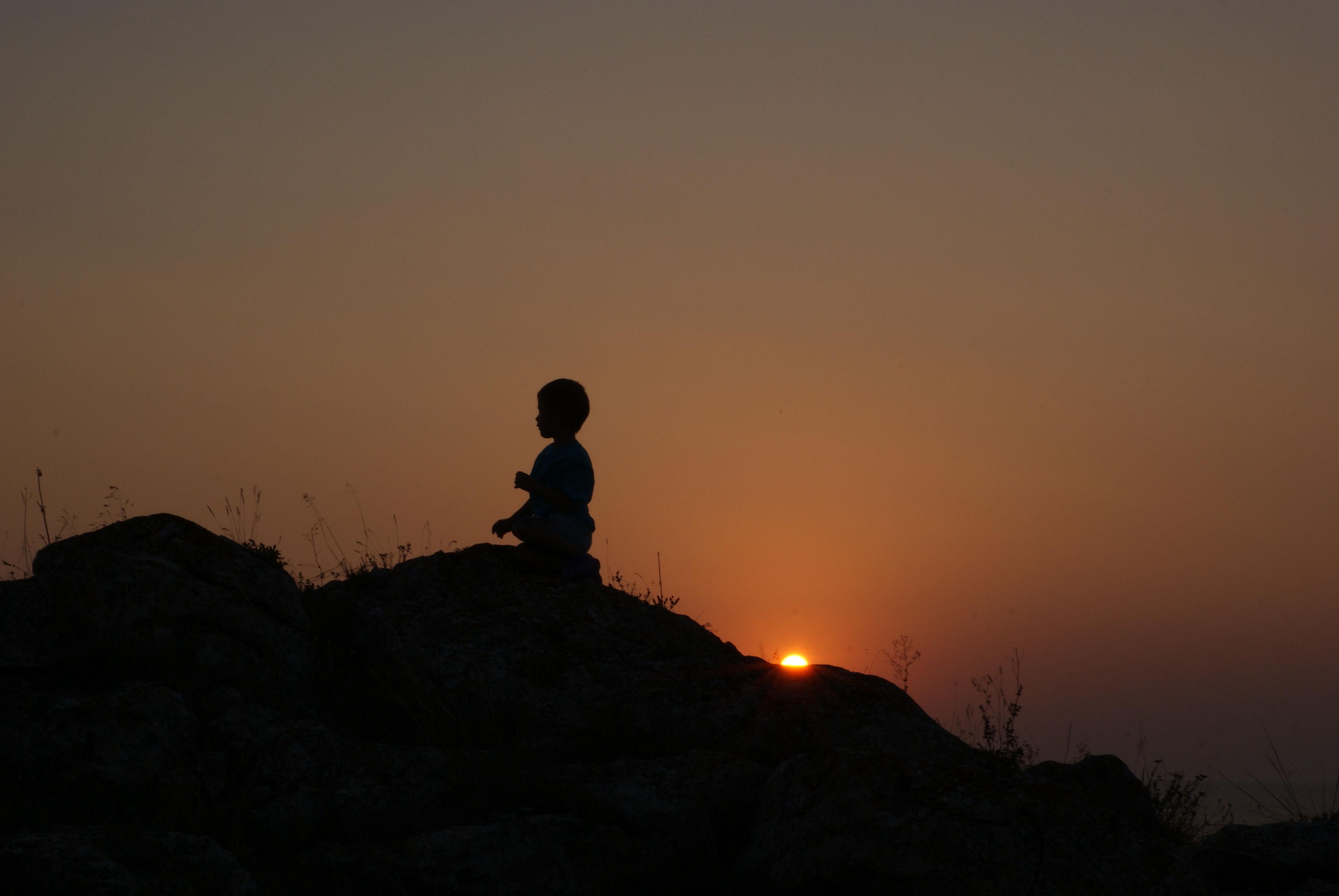 Закат на Казантипе. Юный путешественник