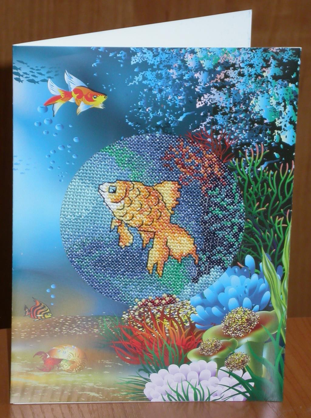 Открытка рыбки, цветов пионы красивые