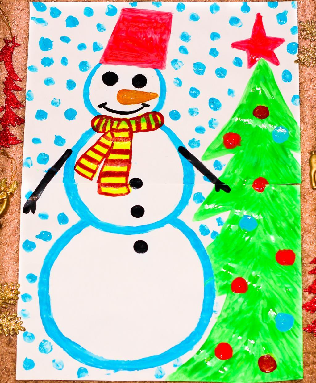 Картинки для детей 4 класса снеговик