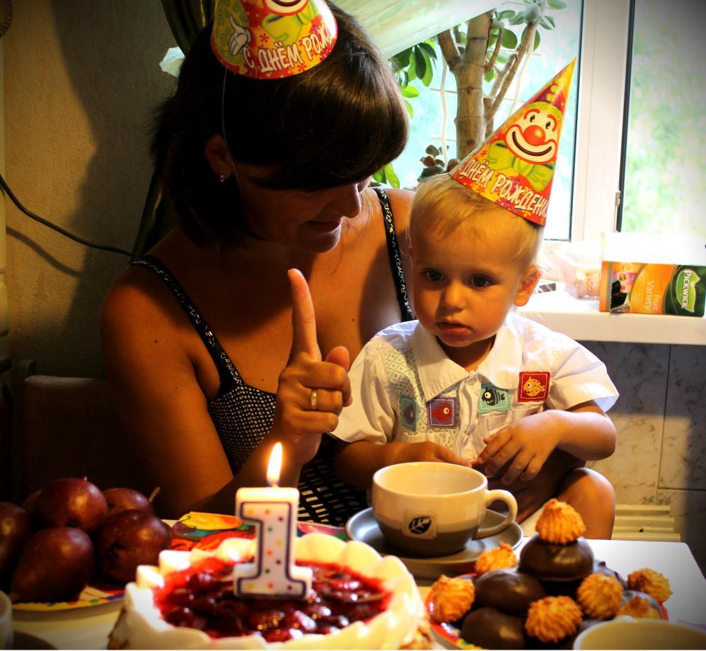 Сыночек Егор. Именинный пирог