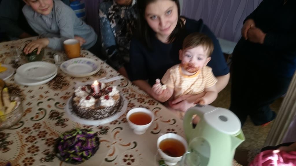 Наш первый день рождение.. Именинный пирог