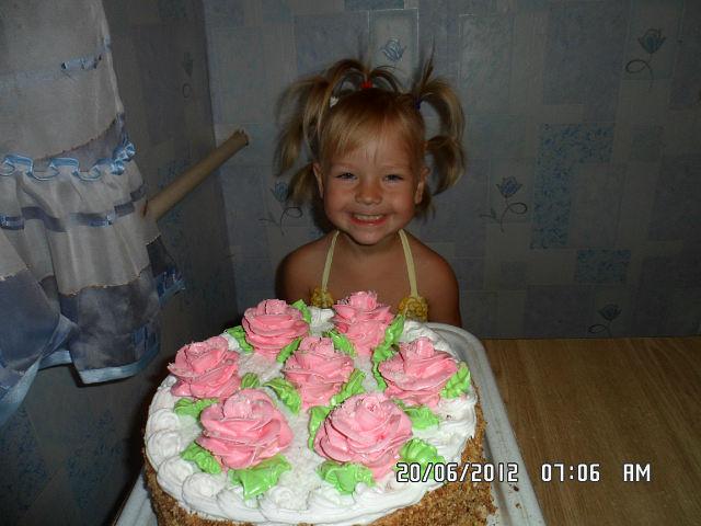 мне 5 лет. Именинный пирог