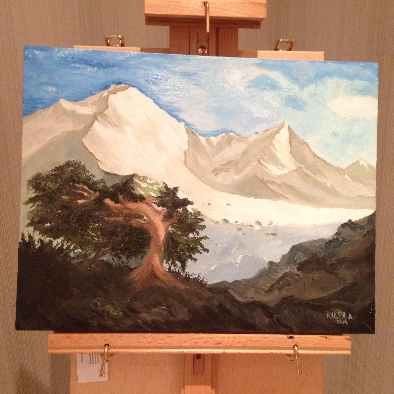 Горы Кавказа. Рисунок