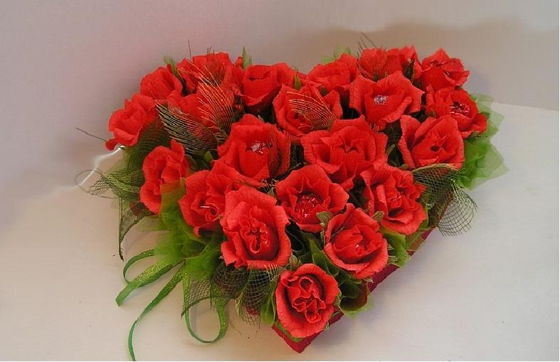 Букеты ко дню валентина, доставки цветов запорожье