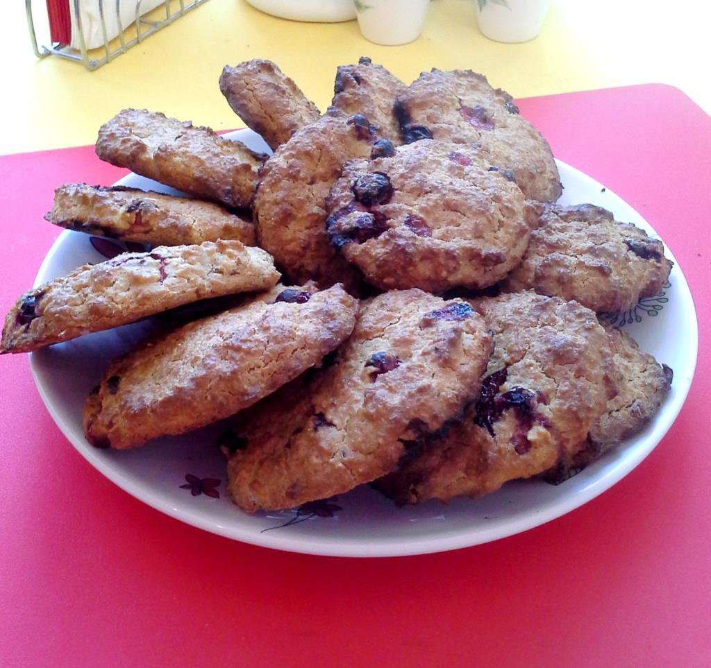 Овсяное печенье с клюквой. еда похудательная