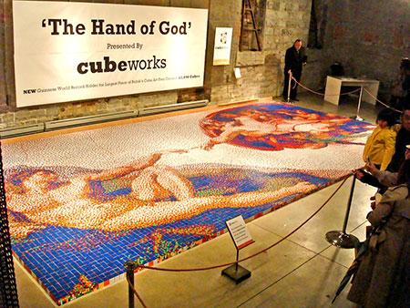 панно Микеланджело Сотворение Адама