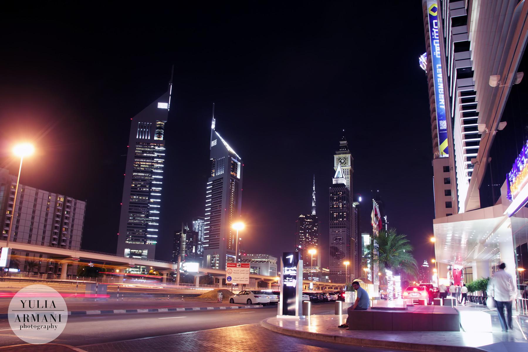 Ночной Дубай. Городские пейзажи