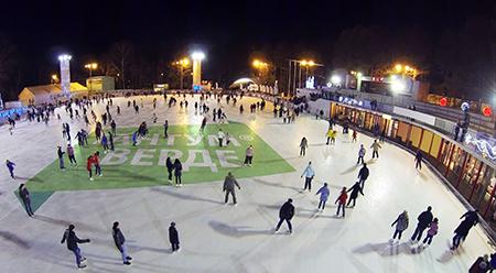 Новогодний лед