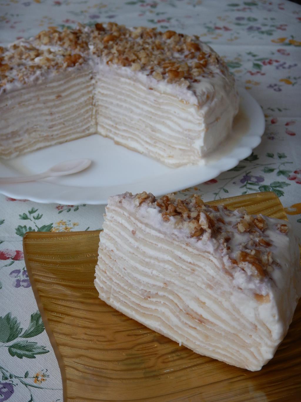 Блинный торт. Кулинария: торты и пирожные