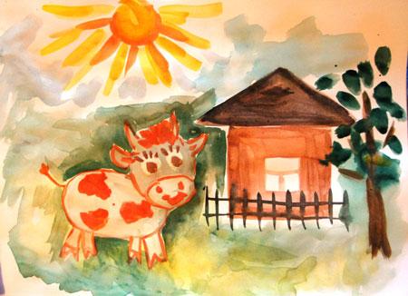 картинки для детей домик в деревне