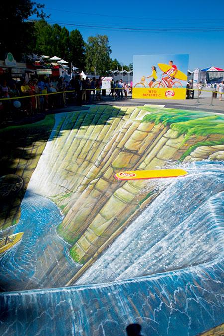 гигантский 3D-рисунок
