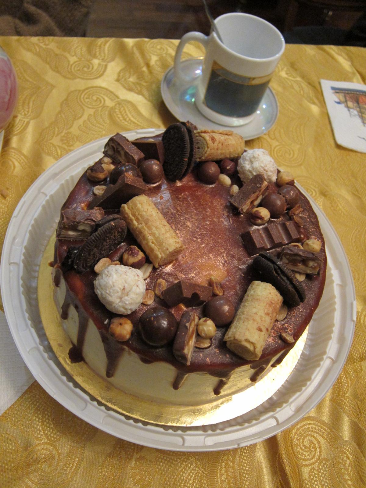 Тортик на День рождения папы Жени.