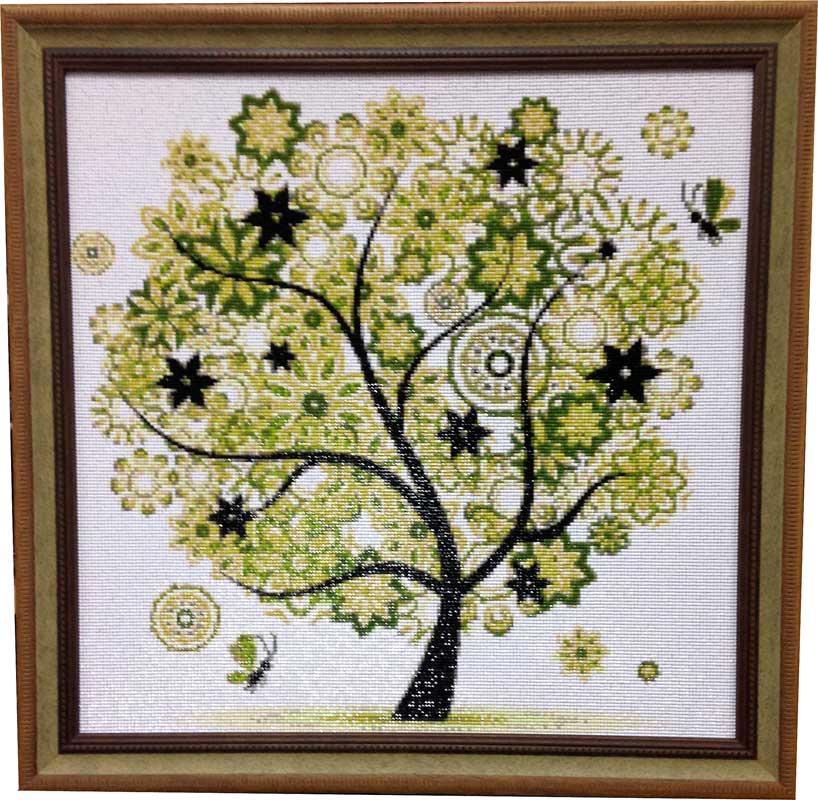 Алмазная мозаика Чудо-дерево. Растения (в основном цветы)
