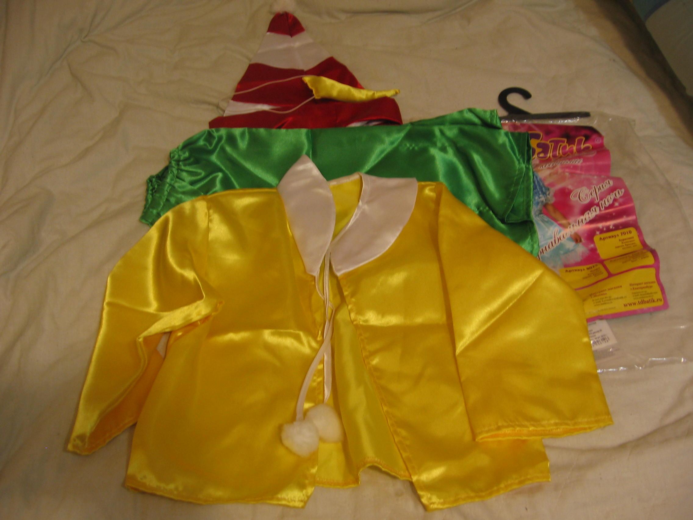 Костюм Буратино-одет один раз,размер 32,110-116. для мальчиков 122-146