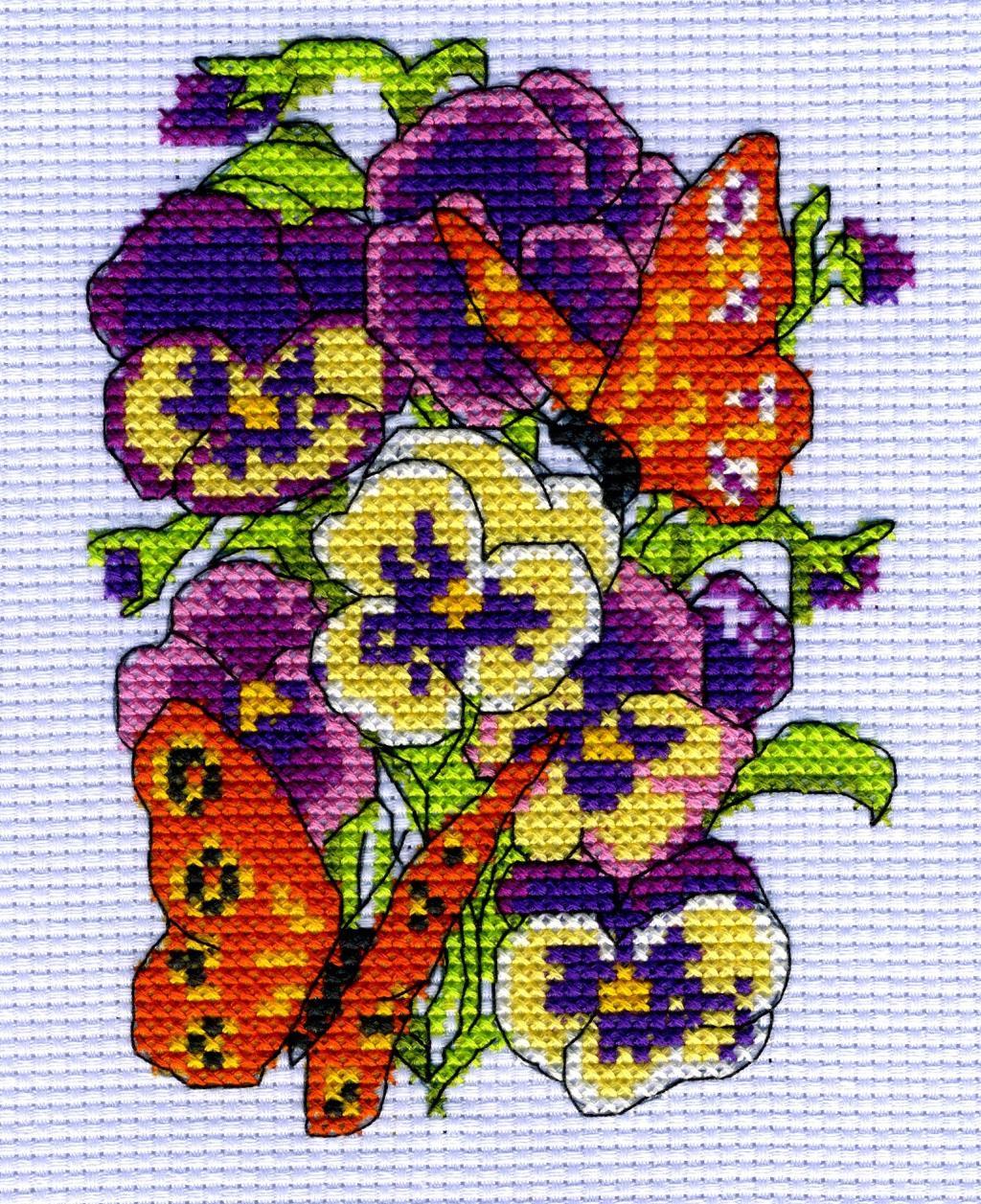 Цветочная зарисовка. Феи,  эльфы, бабочки и др. насекомые