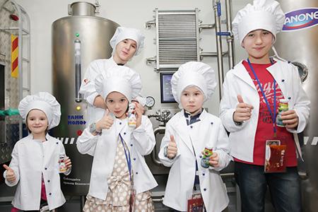 Фабрика йогуртов Danone в Кидзании
